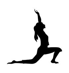 Yoga silhouette black vector