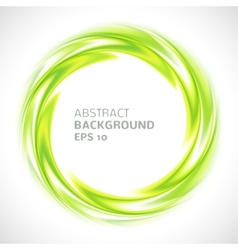 Abstract green swirl circle bright background vector image vector image