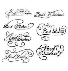 Best wishes calligraphic elements vector image