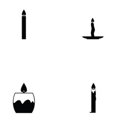 candles icon set vector image vector image