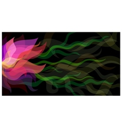 Colorful transparent flowers background vector image vector image