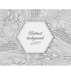 Elegant grey abstract floral wallpaper vector image vector image