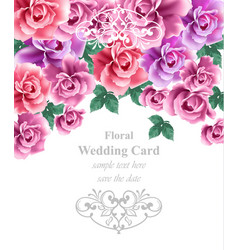 wedding card template greeting card or vector image vector image