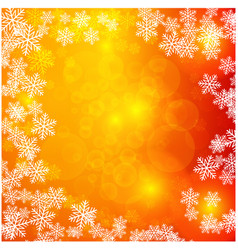 christmas light with snowflakes background vector image vector image