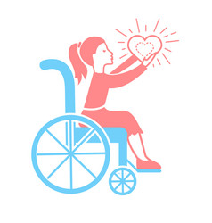 icon of disabled persons vector image
