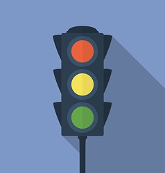Icon of traffic light Flat style vector image