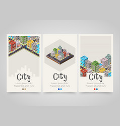 modern colorful vertical city banners map or vector image vector image