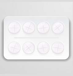 pill in blister pack isolated on a background vector image