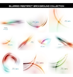 Set of smooth blurred waves backgrounds vector image