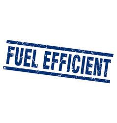 Square grunge blue fuel efficient stamp vector