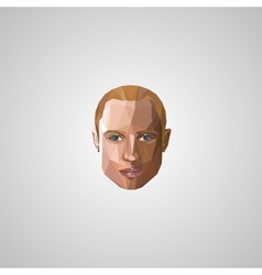 with an blond man face in polygonal style vector image vector image