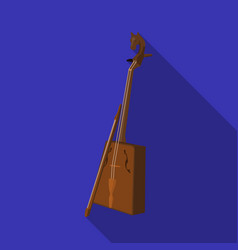 wooden musical instruments of mongol national vector image vector image