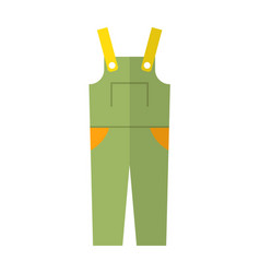 coverall protective clothing flat color icon vector image vector image