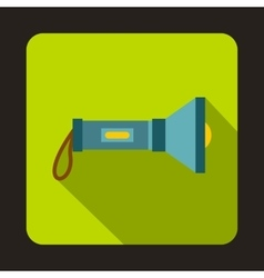 Flashlight icon flat style vector image vector image
