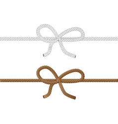 Rope bow2 vector image vector image