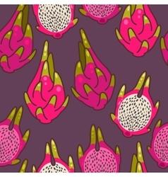 Seamless dragon fruit vector image vector image