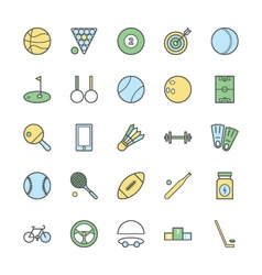 Sports Bold Icons 1 vector image