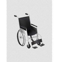wheelchair on transparent background vector image vector image