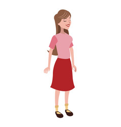 girl daughter family member vector image