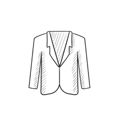 Male jacket sketch icon vector image vector image