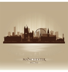 Manchester England skyline city silhouette vector image