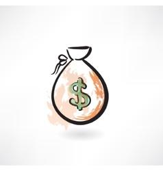 money bag grunge icon vector image