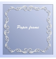 paper square frame vector image vector image