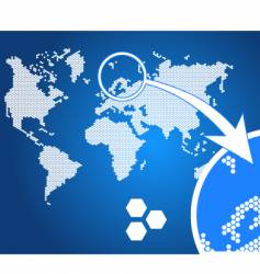 stylish world map vector image vector image