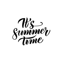 summer time handwritten lettering vector image vector image