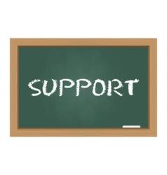 Support chalkboard vector image vector image