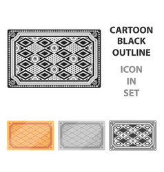 turkish carpet icon in cartoon style isolated on vector image