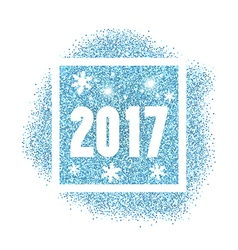 2017 new year vector image