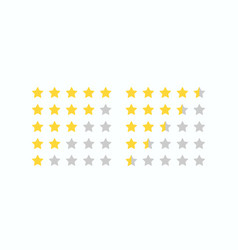 5 star rating icon vector image