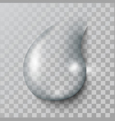a realistic water drop with shadows reflect vector image