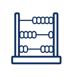 abacus icon on white background vector image