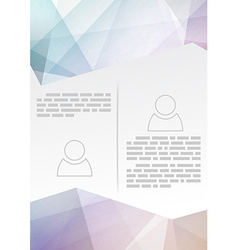 Abstract modern brochure template - crystal vector image