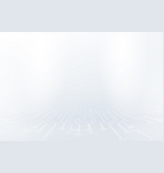 Abstract white lines and dots connect background vector