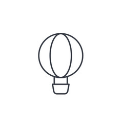 Air balloon thin line icon linear symbol vector