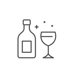Alcohol or beverage line outline icon vector