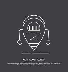 android beta droid robot technology icon line vector image