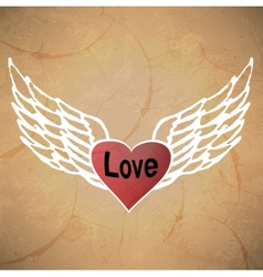 Angel icon retro background vector