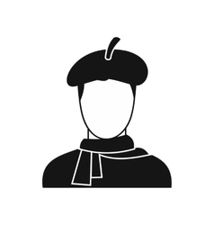 Artist icon in simple style vector