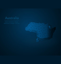 australia map low poly country in oceania vector image