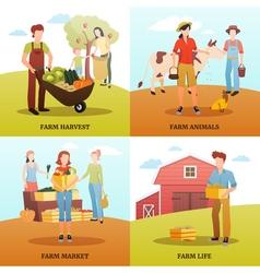 Autumn Harvest Farm Design Concept vector image