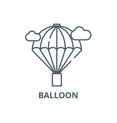 balloon line icon balloon outline sign vector image