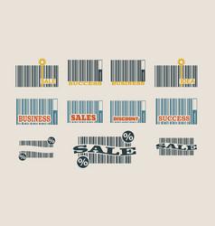 Bar code collection vector