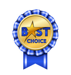 Best choice award ribbon sign gold icon isolated vector