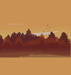beutiful autumn landscape background with autumn vector image