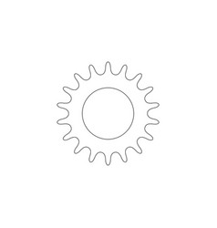 Bicycle star chain flat icon vector