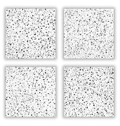 black grainy texture seamless pattern vector image